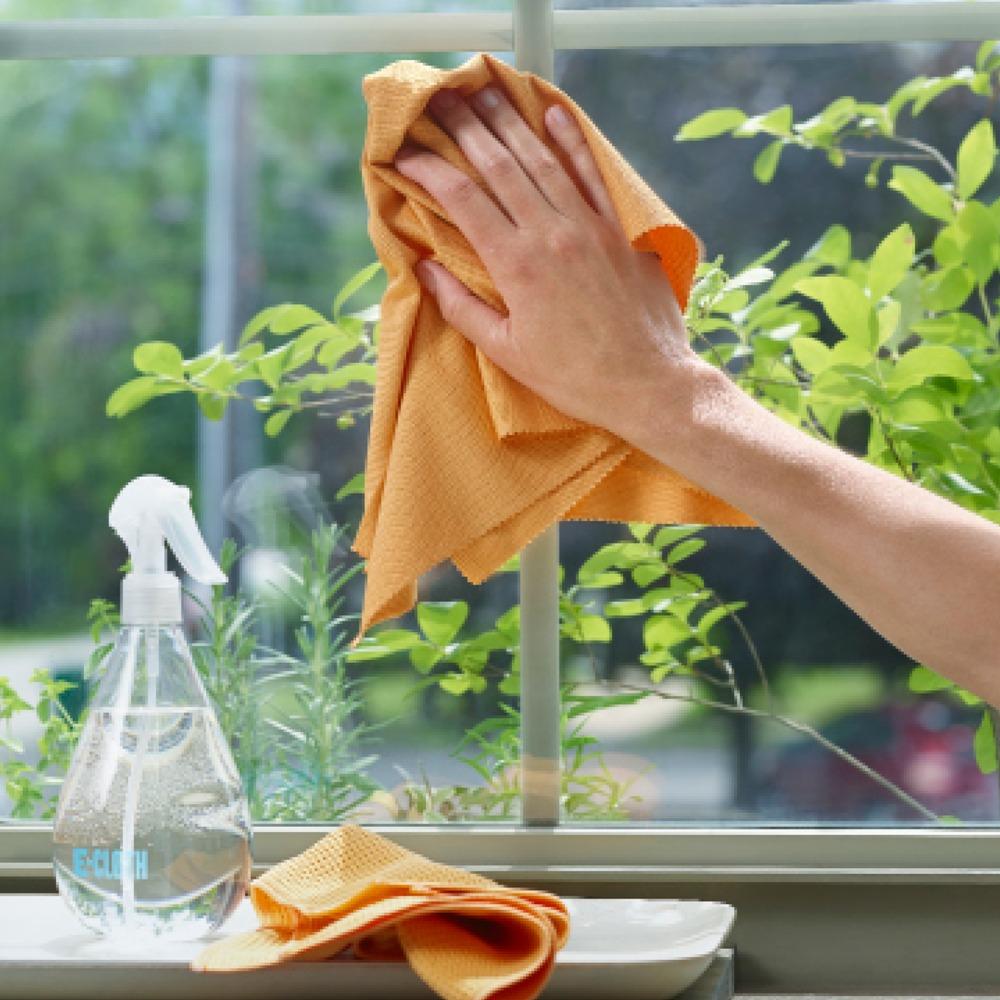 Mit E-Cloth Fenster Set sind Ihre Fenster streifenfrei sauber