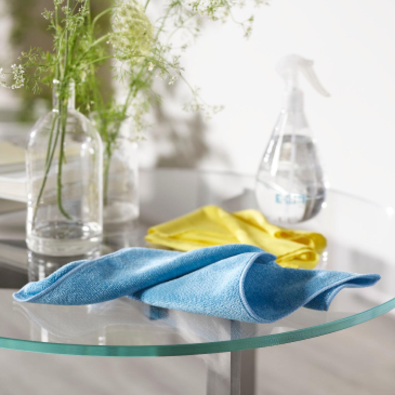 E-Cloth Mikrofaser Tücher sind ideal für Glas und Fenster